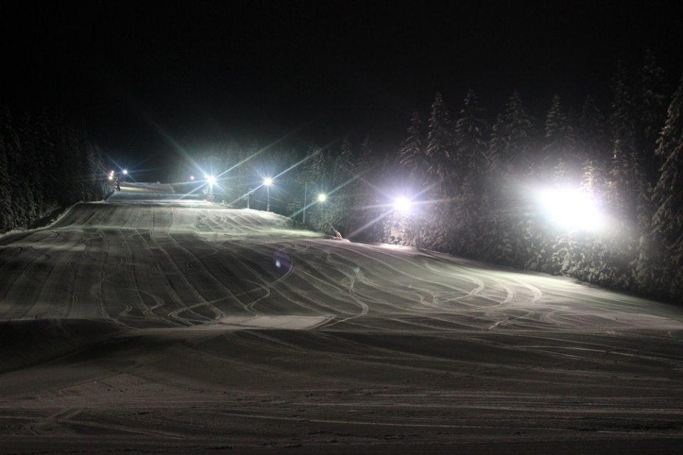 Ski nocturne à Jasna