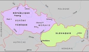 Division de l'ancienne Tchécoslovaquie