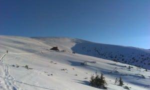 Randonnées en raquettes, sur les crêtes typiques des Carpates enneigées