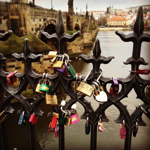 Love locks by Charles Bridge