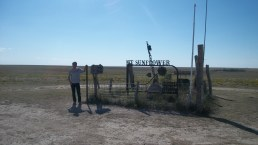 We drove a lot of miles -probably 30-40 on gravel roads in western KS to get here. It is pretty remote, but a neat area