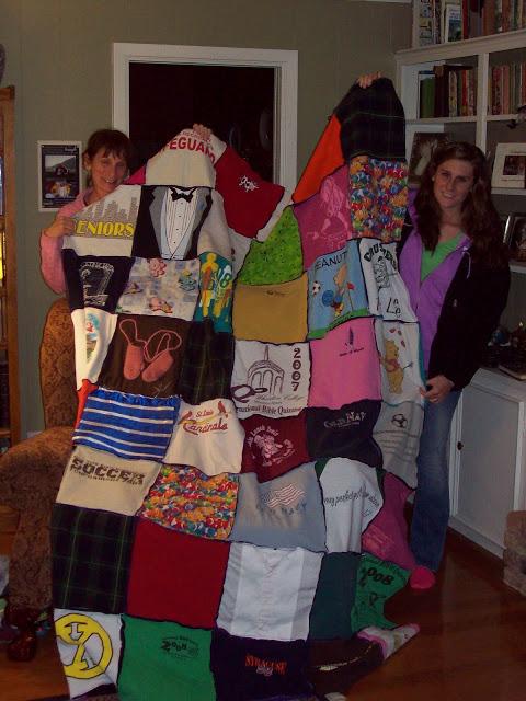 Hannah's tshirt quilt