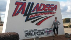 We did a road trip detour(slightly) to check out the Talladega Racetrack(Alabama - for non Nascar fans)