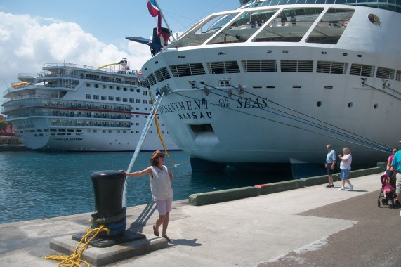 The ship we sailed on for our 3 day cruise is in the background.