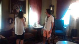 Micah and I in one of the parlors of the Sterne-Hoya home.