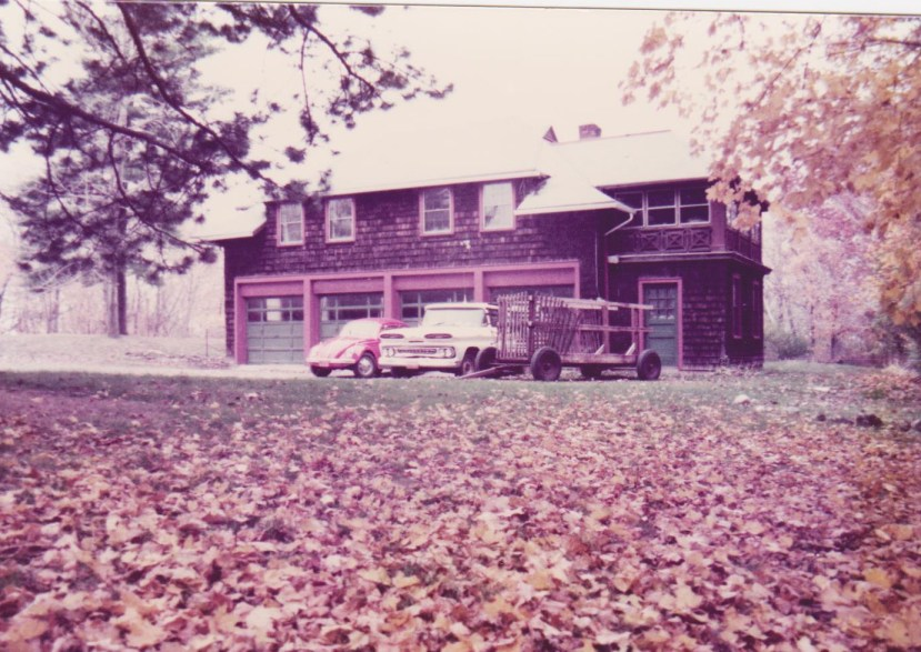 November 1983 is when we rented the apartment above the garage in this carriage house.