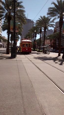 A street car on Canal Street.
