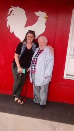 On Wednesday Hannah left me with my wonderful mother, who is pictured here with Hannah.