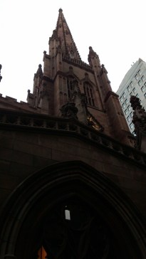 This is Trinity Church at 209 Broad Street and Wall Street. The 9/11 memorial is close to this location so after seeing the memorial we walked to Wall Street.