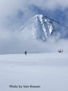 Skier on Hood