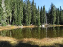 Indian Heaven lake with no name.