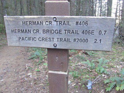 Start of the Herman Creek Trail.