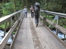 Photo op time at the Herman Creek Bridge.