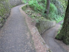 The first section of trail is paved and many switch backs.