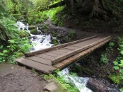 You cross the creek a couple of times on bridges.