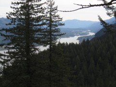 View of the Columbia River.