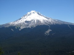A view of Mt. Hood from the top.
