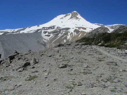 We made it to the top of the ridge got a great view of Mt. Hood.
