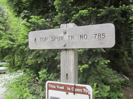 We Started at Top Spur Trail.