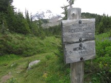 The old Meadow trail to McNeil Point is closed.