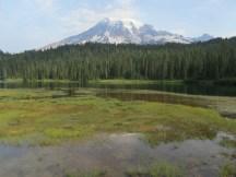 Mt. Rainier and Reflection Lake.