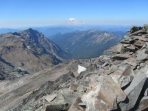 Looking north to Mt. Rainier from the summit.