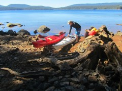 The sun returned warming the day and we started loading the kayaks.