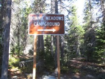 Nice new sign points the way to the Campground.