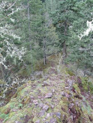Ridge line to scramble back down.