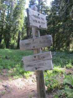 Junction sign with the PCT.