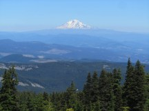 From Wy'east Basin you get great views of Mt. Adams, Mt. Rainier and Mt St. Helens.