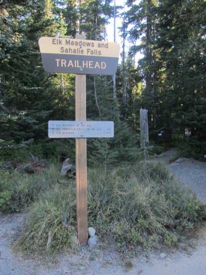I started on the trail to Elk Meadows at 8 am.