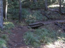 The foot bridge is one of the land marks on the trail to know how you still have to go.