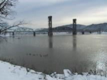 The Rail Road Bridge over the Willamette.