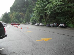 We got there early enough that Multnomah Falls Parking lot still had some spots open.