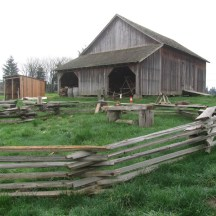 Oldest structure in Oregon. It ain't exactly a roman villa but it is better then a hollowed out tree stumped.