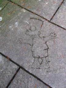 Bart Simpson Sidewalk Art