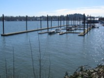 One of the boat docks you pass by.