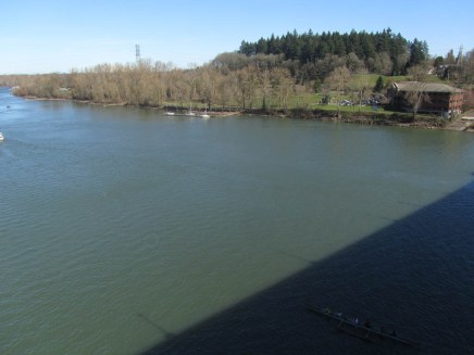 Look from the bridge over to Sellwood Park.