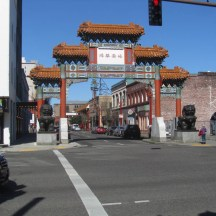 A selfie attraction. Marking the entry to China Town. First time in decades you can take you selfie with out having a porn shop or a homeless camp in it. Many of the Chinese business have moved on. Located 4th ave and Burnside St. one block from Voodoo Doughnuts downtown.