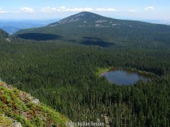 View from top of Green Pt. Mt. is to Rainy Lake and Mt. Defiance.