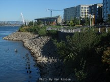 View of waterfront park