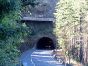 Old Road goes over the newer Tunnel
