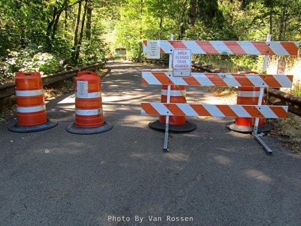 Wahclella Falls Trail is very closed do to Covid 19