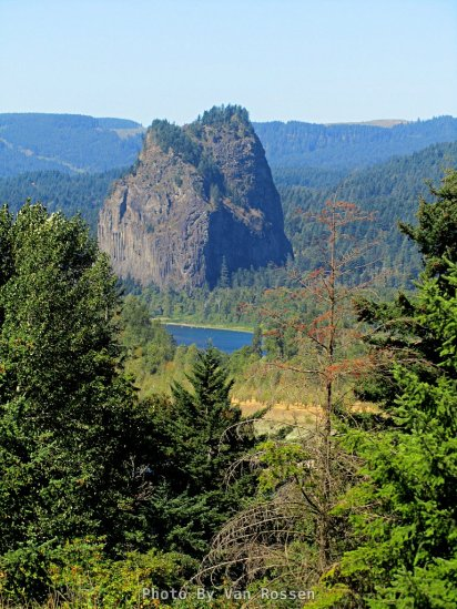 Beacon Rock from the bike trail