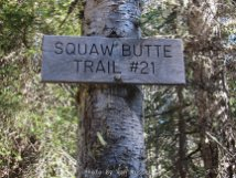 Sign for the start of Squaw Butte Trail