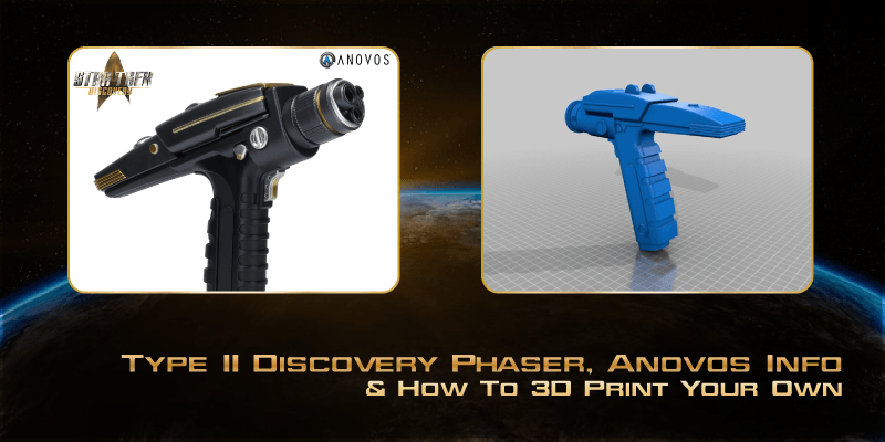Type II Discovery Phaser, Anovos Info & How To 3D Print Your Own
