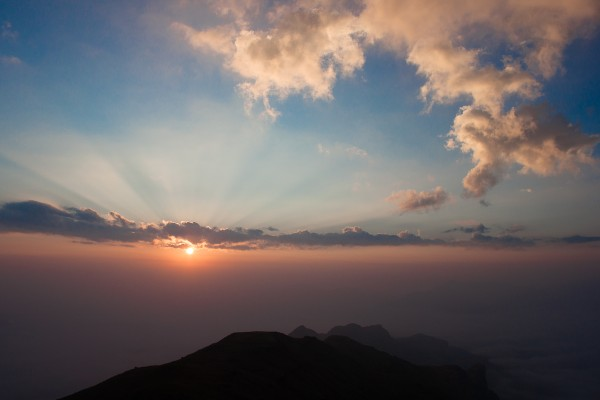 Sunrise from Kalsubai