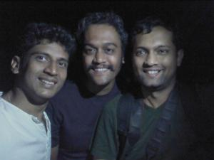 Ajay, Soumen and Me on the beach