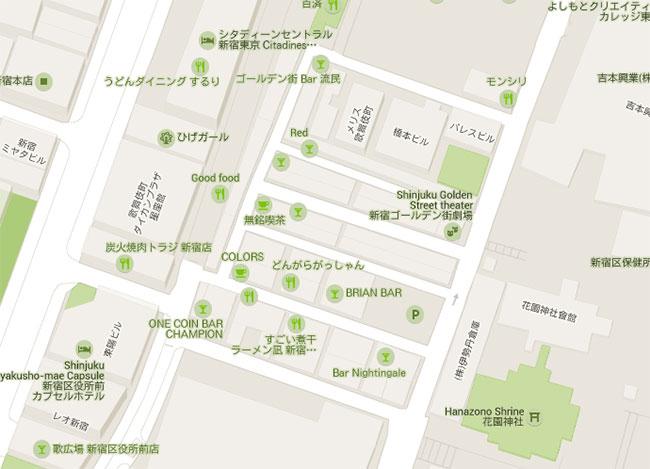 Map of Golden Gai